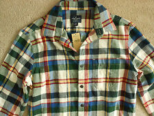 MENS SIZE SMALL AE AMERICAN EAGLE OUTFITTERS PLAID FLANNEL SHIRT NWT