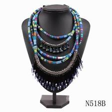 new chain crystal pendant chunky statement bib choker necklace collar for women