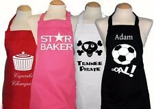 Personalised 9 - 12 years Kids/Childs/girls/boys Apron * 10+ Designs * Christmas