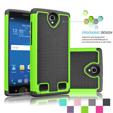Hybrid Rugged Impact Dual Layer Shockproof Hard Case Cover For ZTE ZMAX 2 Z958