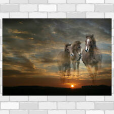 Galloping Horses Fantasy - Poster - Print - Wall Art - Pop Art in 4 sizes