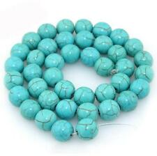 New Natural Turquoise Round Gemstone Loose Spacer Beads Charm 6/8/10/12/14MM