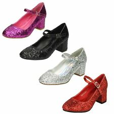 Girls Spot On Glittery Party Shoes H3057