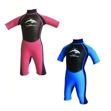 Konfidence Childrens Shortie Neoprene Wetsuit 3-12 Years UV Protection 3mm