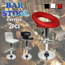 2pcs PU PVC Leather Bar Stools Kitchen Chair Gas Lift Dining Home Office Seat OZ
