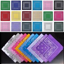Wholesale Lot Bluk 100% Cotton Paisley Print Bandanas Head Wrap Scarf Wristband