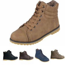 WOMENS LADIES LACE UP ANKLE BOOTS CASUAL RUBBER GRIP SOLE COMBAT BOOT SHOES SIZE