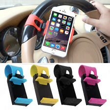Car Steering Wheel Bike Clip Mount Holder for Cell Phone iPhone 6s 7 Samsung GPS