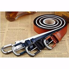 Fashion Men's Casual Wide Cowhide Leather Belt Strap Pin Metal Buckle Waistband