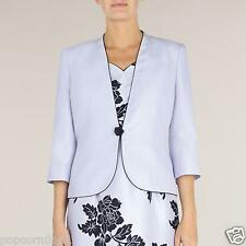 New Jacques Vert Dress & Jacket UK Lilac Rose Shantung Floral Wedding rrp £308