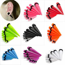ACRYLIC EAR TAPERS PLUGS STRETCHING KIT STRETCHERS EXPANDERS TAPER 9 PIECE SET