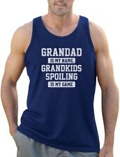 Grandad Is My Name Grandkids Spoiling Is My Game Funny Gift Singlet