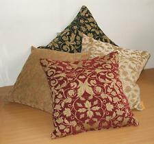 FLORAL DESIGN CHENILLE CUSHION COVERS - 2 SIZES