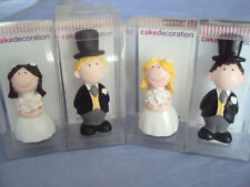 CUTIE RESIN WEDDING CAKE DECORATION TOPPERS - BRIDE OR GROOM - BLONDE OR BROWN