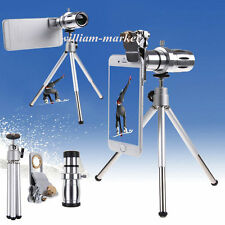 12X Zoom Telephoto Telescope Camera Lens+Tripod For Samsung For iPhone 6s 6 Plus