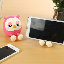 Cartoon Cute OWL Design Cell Phone Stand Holder RACK Mini Saving Money Container