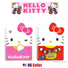 Sanrio Hello Kitty School Supply Kitty Face Die Cut Spral Notebook Note Pad