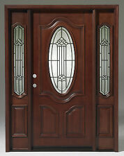 Pre hung solid wood double french exterior door 5 ft for 5 foot exterior french doors