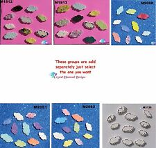 ASSORTED CLOUDS  -  HANDMADE, CERAMIC MOSAIC TILES ( Pick you Group) #1