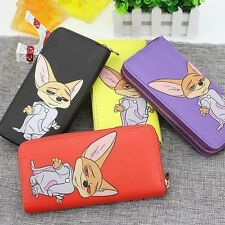 New Women Fox Cartoon Wallet Long Creative Card Holder Casual Clutch Coin Purse