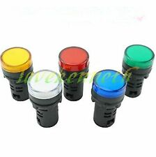 2/5/10 PCS 16mm LED Indicator Pilot Signal Light Lamp Different Voltages Colors