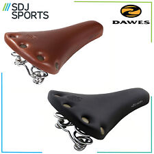 DAWES LEATHER LOOK BIKE SADDLE SPRUNG RIVETED STUD TRADITIONAL VINTAGE LOOK SEAT