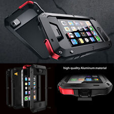 Aluminum Metal Waterproof Shockproof Gorilla Glass Case Cover For Apple iPhone