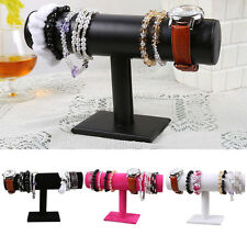 Hot Sale T-Bar Bracelet Chain Watch Jewelry Hard Display Stand Holder VelvetGift