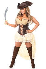 Sexy Woman 4 PC Pirate Captain Costume Outfit for Cosplay & Halloween