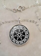 Sterling Silver Pendant Necklace Septagram Wicca Elven seven Point Star