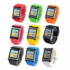 Hot Silicone Watch Band Wrist Strap Bracelet Case Cover For iPod Nano 6 6th 6g