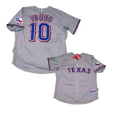 MICHAEL YOUNG TEXAS RANGERS MAJESTIC GRAY JERSEY NWT M/L/XL/2XL