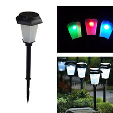 Solar Powered LED Color Changing Lamp Garden Path Way Lawn Yard Decoration Light