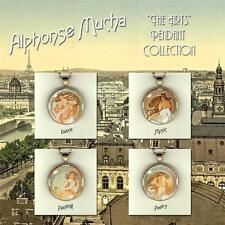 Alphonse Mucha - The Arts - Art Noveau Photo Pendants 30mm