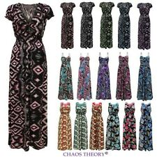 Womens Ladies Tropical Floral Rose Print Lace Long Summer Casual Maxi Dress