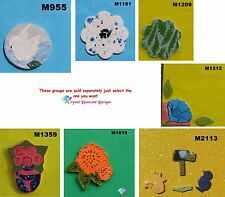 Assorted FLOWERS or ANIMALS - HANDMADE,CERAMIC MOSAIC TILES (Pick you Group) #28