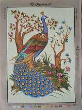 Diamant Huge Needlepoint -Flowers or Peacock- Choose from 4 designs 19 x 27''