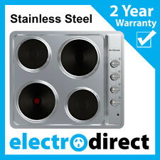 Made in Europe 60cm Electric Cooktop Stainless Steel Hob 4 Hotplate Brand New
