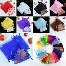 50PCS Fashion Sheer Organza Wedding Party Favor Gift Candy Bags Jewelry Pouches