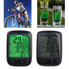 Waterproof Bicycle Bike Cycle Computer LCD Odometer Speedometer With Backlight