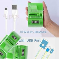 LCD Universal Mobile Cell Phone Camera Wall Travel Battery Charger& USB Port