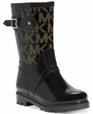 Michael Kors MICHAEL Logo Mid Rainboots Black Rubber Choose Sizes