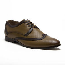 New Men's 36981 Leather Lined Perforated Two-Tone Lace Up Oxfords Shoes