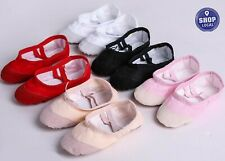 Children Girls Kids baby Ballet Dance Shoes Flat Slippers Split Sole Shoes