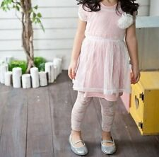Baby Kids Girls children Rose Lace white Black pants bottoms tights 0-6yrs