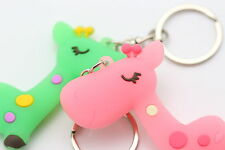 New Giraffe Keyring Animal Dear Doll Baby Kid Children Birthday Favor Key Rings