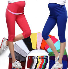 7 Pant Maternity Leggings Comfortable Elastic Pregnant Women Cotton Capris