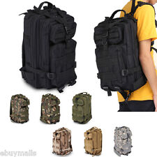 30L Hiking Camping Bag Army Military Tactical Trekking Rucksack Backpack Camo US