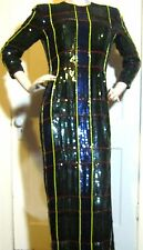 Vintage ESCADA COUTURE Sequins & Beads Tight Party Formal Evening Ball Dress 8