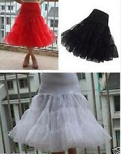 """Swing Rockabilly SKIRT WEDDING 50s 40s Pin Up 3 color 18"""" Long tulle Petticoat"""